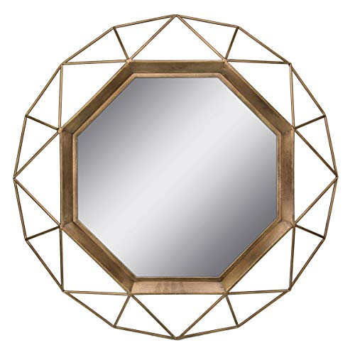 Stonebriar SB-6137A Gold Geometric Wall Mirror, 30 x -