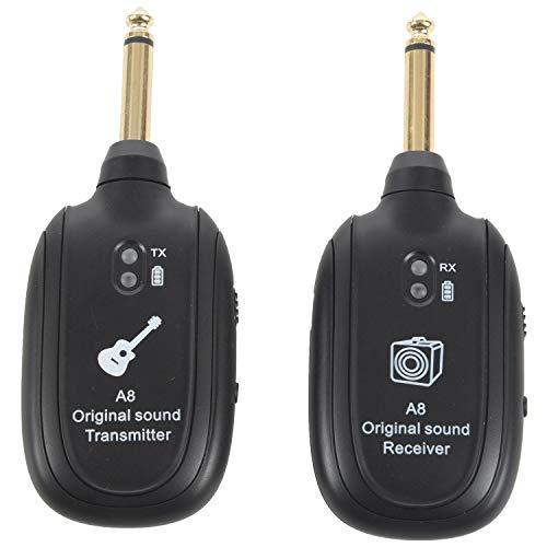 TOOGOO Recepteur de systeme sans fil pour guitare UHF integre rechargeable