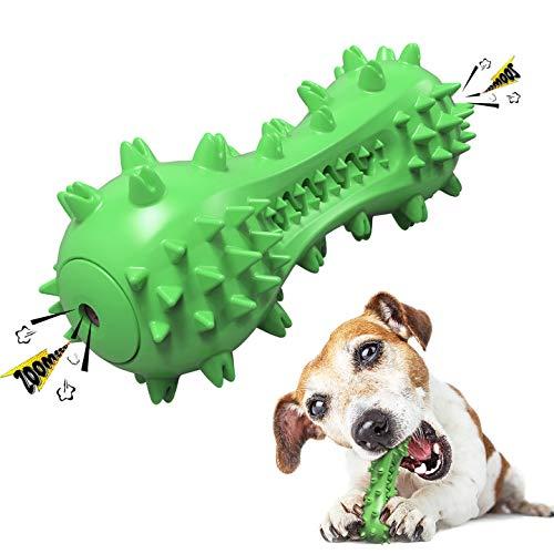 REDSTORM Juguete limpiable para Perros, Cepillo de Dientes para Perros, Juguete masticable de Goma sólida para Perros pequeños y medianos, Azul (Verde)
