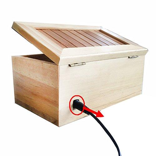 Metermall Hot houten nutteloze doos Laat me alleen doos Meest nutteloze hine Raak Tiger Toy Gift niet aan met Light USB Charging Black