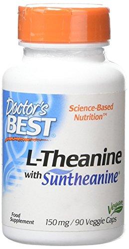 Doctor's Best L-Theanine Contains Suntheanine, Helps Reduce Stress & Sleep, Non-GMO, Gluten Free, Vegan, 150 mg 90 Veggie Caps