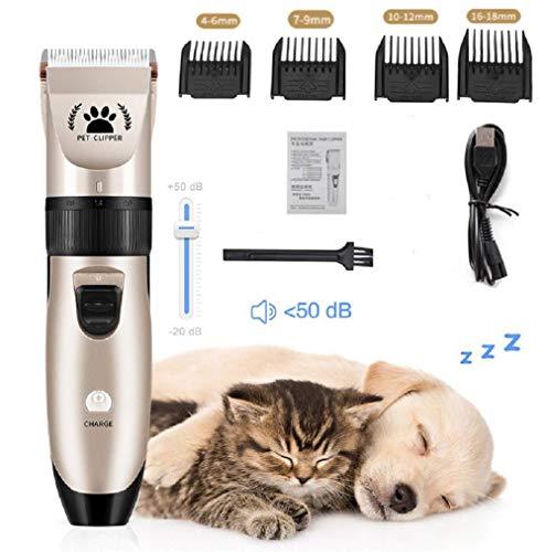 Draadloze hondentondeuse, oplaadbare huisdierhaartrimmer Elektrische beste scheerapparaatset voor honden, katten, paarden, huisdieren