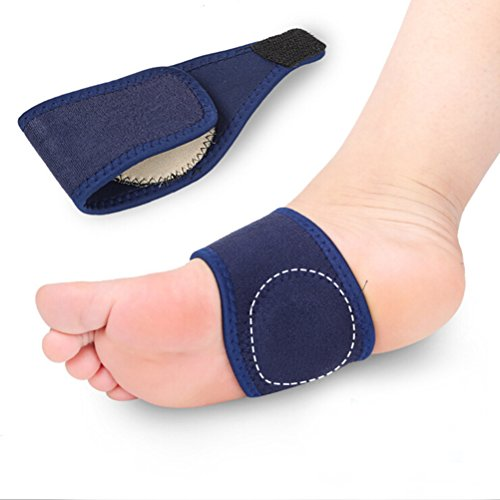 ULTNICE Paar Fußgewölbe Senkfuß Bandage Einlegesohlen Elastisch