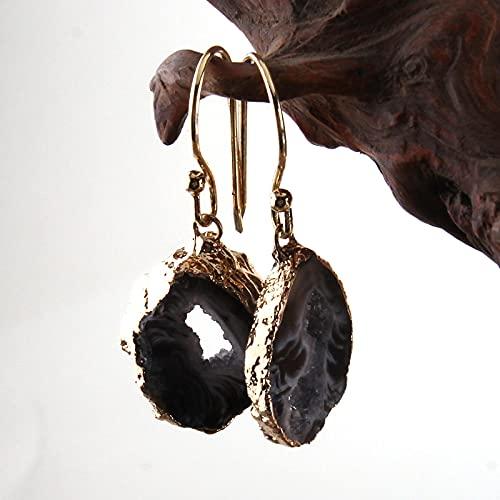 guodong Pendientes De Gota Druzy Irregulares De Piedra Natural De Joyería De Moda para Pendientes De Mujer