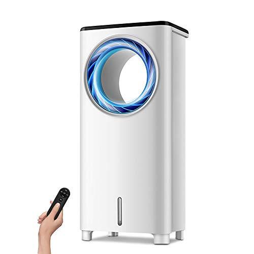 LEYOUDIAN Kongtiaoshan Blattloser Klimaanlagenlüfter Kühlventilator Befeuchtung einzelner Kühlventilator Haushaltsschlafsaal Wasserkühlventilator kleine Klimaanlage (Color : White)