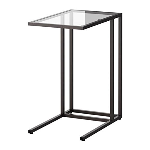 Ikea Vittsjo Laptop Stand Zwart-Bruin Glas Grootte 13 3/4x25 5/8