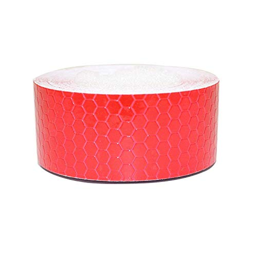 Tuqiang® Reflektierende Band Selbstklebende Sicherheit Warnung Conspicuity Nacht Reflektor Streifen Tape Film Aufkleber 2.5cm×3m Rot 1 Stück