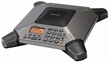 Panasonic KX-TS730S 8-Microphone Conference Speakerphone with Caller ID and 120-Minute Recording (Renewed)