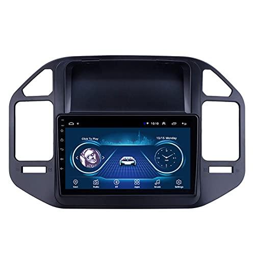Gndy Coche navegación System Android 9.1 para Mitsubishi Pajero V73 2004-2011 Cuatro nucleos 9' HD Pantalla táctil In Dash Car con GPS Sat Nav USB FM,1G+16G-Quad-Core