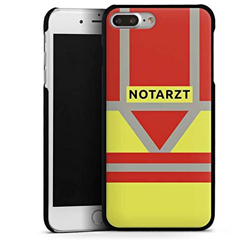 DeinDesign Hard Case kompatibel mit Apple iPhone 8 Plus Schutzhülle schwarz Smartphone Backcover Beruf Notarzt Uniform