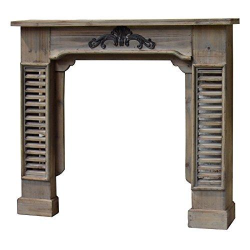 Schoorsteenmantel met frame voor open haard, hout, 115 cm