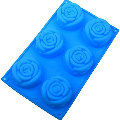 Crafts Soap Making Supplies Molds - Flexible Soap Molds Silicon Loaf for Making Hand Made Soap Bar Homemade Lotion Bars Bath Bombs Rose Flower Shape Mold