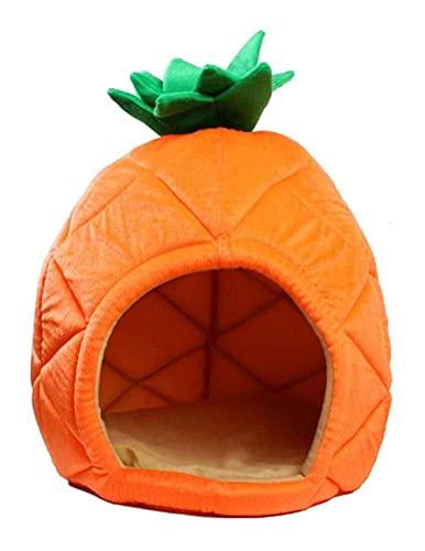 Huisdier Lifestyle Producten Hondenhuis Opvouwbaar Dierenhok Creatief Ananas Fruitvorm Katoen Warm Zacht Puppy Kennel Pet Shelter House