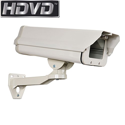 HDVD Outdoor Weatherproof Heavy Duty Aluminum CCTV Security Surveillance Camera Housing Mount Enclosure