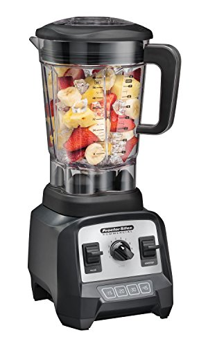"""Proctor Silex Commercial 55000 High-Performance Blender, 2.4 Peak hp, Variable Speed Dial, BPA-Free 64 oz./1.8 L Container, 17.32"""" Height, 7.6"""" Width, 8.69"""" Length, Black"""