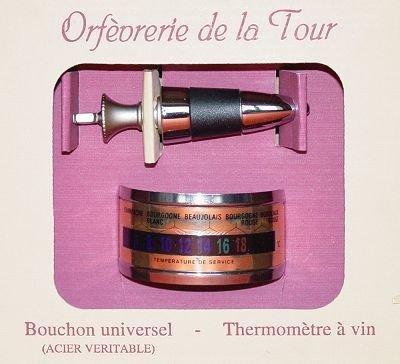 ORFEVRERIE DE LA TOUR - Coffret Oenologue Thermomètre + Bouchon*