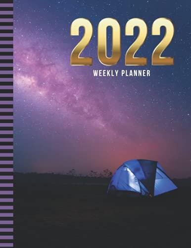 Planificador semanal 2022: 8.5 x 11, organizador con fecha de 52 semanas con lista de tareas – Sección de notas – Rastreador de hábitos/tienda de ... diciembre / regalo de planificación de vida