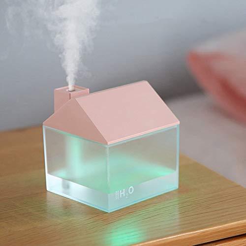 Nawilżacz USB Lampka nocna Nawilżacz Kształt domu 3-w-1 250ml Rozpylacz zapachów Z olejkami eterycznymi Biuro Strona główna Sypialnia Klimatyzacja Maszyna do aromaterapii
