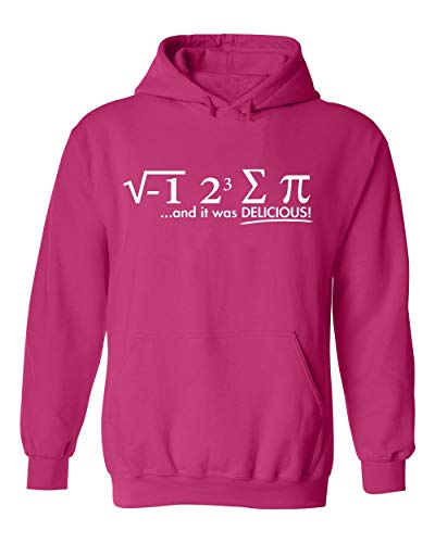 I Ate Some Pie (I 8 Sum Pi) Funny Math -March 14 Pi Day- Unisex Hoodie(Pink,Large)
