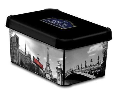 CURVER 205491 Déco Stockholm - Caja (Polipropileno, tamaño pequeño), diseño de París