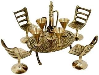 S.N. International Brass Dining Table Chair Maharaja Set