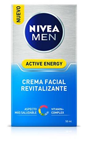 NIVEA MEN Skin Energy Crema Facial Hidratante (1 x 50 ml), crema para hombres con cafeína de origen 100% natural, crema hidratante para reducir los signos del cansancio
