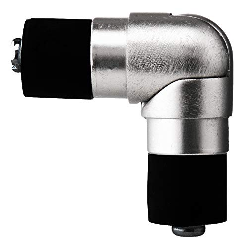 tilldekor Gelenkverbinder/Eckverbinder für Gardinenstangen 16 mm Ø, Edelstahl-Optik