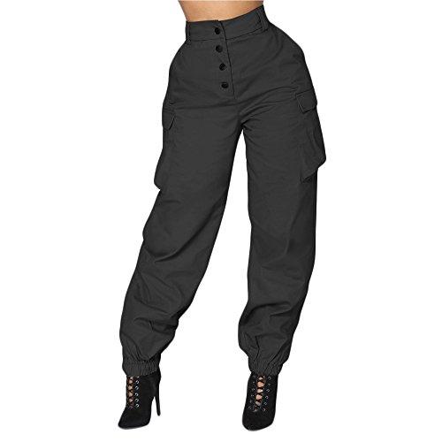 FRAUIT dames losse militaire broek casual legerbroek tactische broek stretch vrijetijdsbroek werkbroek mode elegant prachtig design streetwear