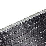 Stasy Material De Aislamiento Papel Aluminio,Barrera Reflectante De Vapor Térmico Membrana Prueba Agua para Impermeabilizar áticos, Ventanas, Conductos, Puertas De Garaje(Size:1x2m (39 in X 6.5 Ft))