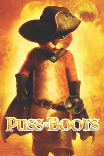 Puss in Boots Notebook: Cute College Wide Ruled Journal Notebook for School Students, Teen Boys and Girls, Kids, Women for Creative Writing ... (Puss in Boots Composition Notebooks)