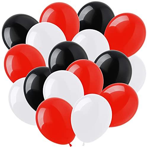 100 piezas de vino tinto Globos blancos y negros Globos de cumpleaños negros Globos de helio de látex Globos blancos y negros Globos de látex rojos Globos de helio negros para decoraciones de fiesta
