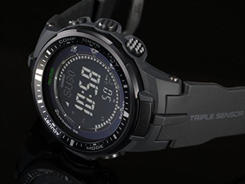 『[カシオ]CASIO 腕時計 PROTREK プロトレック PRW-3000-1A オールブラック メンズ [逆輸入モデル]』の4枚目の画像