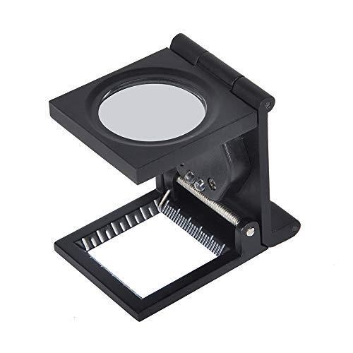 Solomi Linnen Tester - Vergrootglas 10X Lens klok Juwelier Tool LED vouwen staan stof doek ruimte vergrootglas 1 stuk