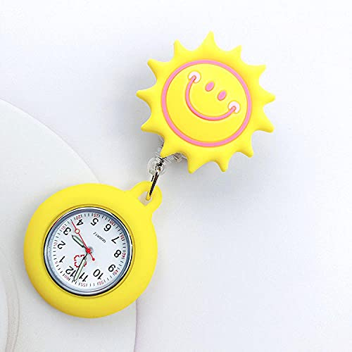 LLRR Pulsera Fob Reloj,Mesa de Bolsillo para Doctor Impermeable con luz Nocturna, Reloj de Bolsillo de Silicona para Mujer linda-66,Reloj de Bolsillo Medico de Enfermera
