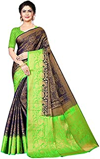 Neerav Exports Banarasi Kanjivaram Soft Silk With Rich Pallu Traditional Jacquard Saree (Blue)