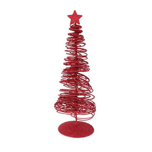 Amosfun Mini arbol de Navidad Artificial Mesa de Navidad Centro de Mesa arbol de Navidad Hierro arbol de Navidad Adorno de Brillo de Escritorio para Fiesta
