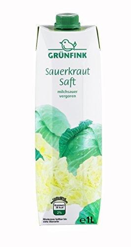 Grünfink Sauerkrautsaft, 8er Pack (8 x 1 l)