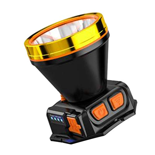 Timagebreze LáMpara de Luz de Cabeza LED para Acampar, Linterna de Cabeza Recargable USB Impermeable, Linterna de Cabeza Impermeable
