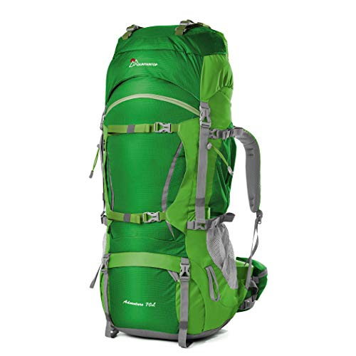 MOUNTAINTOP 70+10Liter Erwachsene Trekkingrucksäcke Camping Reisen Backpacking Backpacker...