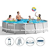 Toy Park Intex Prism Metal Frame Set Collapsible Swimming Pool with Water Filter