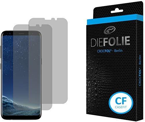 Crocfol Schutzfolie vom Testsieger [2 St.] kompatibel mit Samsung Galaxy S8 - selbstheilende Premium 5D Langzeit-Panzerfolie inkl. Veredelung - für vorne, hüllenfreundlich