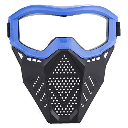 Pangyan990 Tactical Face Shield Mask Schutzbrille, Augenschutz für Kinder - Kompatibel mit Nerf Rival, Apollo, Zeus, Khaos, Atlas, Artemis und N-Strike Elite Blasters (Rot und Blau)