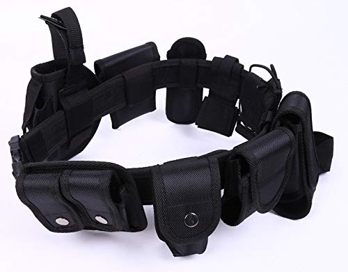 HUNANBANG Black Law Enforcement Tactical Equipment System set 10 pcs (10pcs belt set)