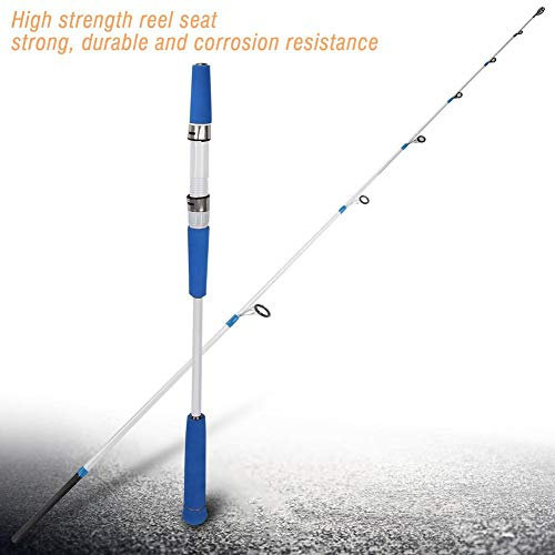 AYNEFY Portatile Canna da Pesca Canna da Pesca Spinning Rod, Canne da Pesca in Acciaio Portatile Super Leggero Leggero da Pesca in Mare da 1,8 m