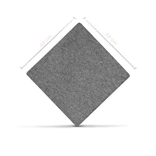 denc Premium Bügelmatte 100% Schurwolle - Bügeldecke für Dampfbügeleisen - hitzebeständig - wärmereflektierend - Bügelkissen - 1,3 cm x 43 cm x 43 cm