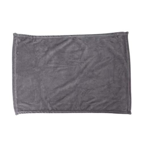 YLWL Cómoda Manta de Franela súper Suave para Mantener el Calor, tamaño Grande, Color sólido, para el hogar, sofá, Ropa de Cama, Oficina, Coche, Manta, 45x65 cm (Plateado y Gris)