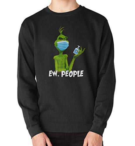 Grinch Face Mask Ew People Corona-Virus T-Shirt, Long Sleeve, Sweatshirt, Hoodie 14 Black