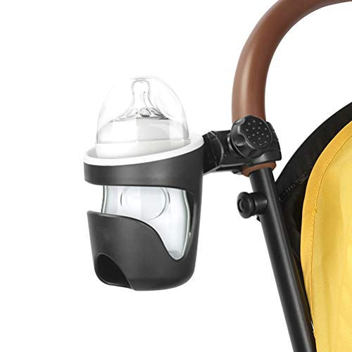 OonlyoO Universal Cup Holder, 360 Degree rotatable Baby Stroller Cup Holder, Large Diameter Design Milk Bottle Holder Baby Stroller Accessories
