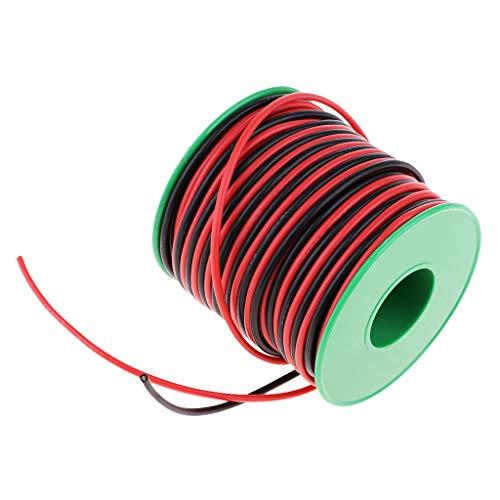Homyl 22AWG Flexibel Silikon Elektrische Draht Seil Silikonkabel Silikondraht, Länge 40m