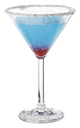 G.E.T. Heavy-Duty Shatteproof Plastic Martini Glasses, 10 Ounce, Clear (Set of 4)